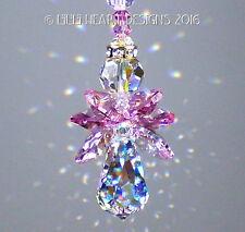 m/w Swarovski *Little Pinky Angel* AB Car Charm Suncatcher Lilli Heart Designs