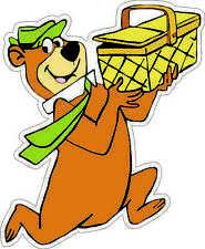 "Yogi Bear with picnic basket bumper sticker wall decor vinyl decal, 4""x 5"""