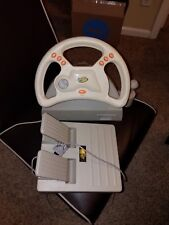 Racing Wheel W/pedals For Sega Dreamcast Gray Madcatz Dream Wheel