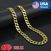 """Miami Cuban Link 18k Gold Plated 5mm Necklace 30"""" Hip Hop Chain"""