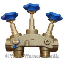 """MONTAGEBLOCK 1"""" mit PRÜFVENTIL für Wasserenthärtungsanlage Wasserenthärter"""