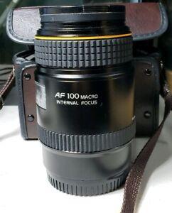 Tokina AT-X AF 100mm f/2.8 Macro Lens Minolta/Sony Near Mint