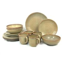15 PIECE SET ONEIDA INFINITY HONEY DINNERWARE DINNER SALAD PLATE BOWL MUG