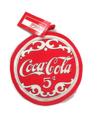 Coca-Cola Round Pot-Holder 8 inches Red with White Logo  - BRAND NEW