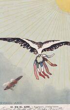 * WWI - Spain, En El Aire - Apoteosis Vision futura, Flags 1917 Interesting text
