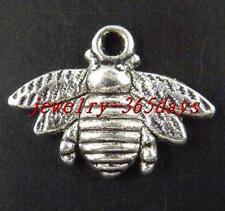 50pcs Tibetan Silver Nice Bee Charms 21.5x16mm 742