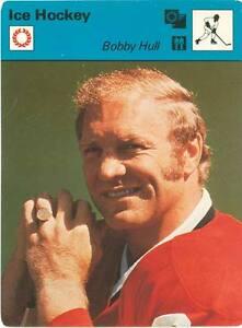 1977 Bobby Hull Chicago Black Hawks Sportscaster NHL Card #05-20 NM