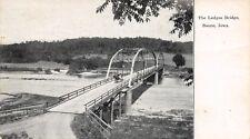 Boone Iowa~The Ledges Bridge~Horse & Buggy on Double Span Thru Truss~1907 B&W PC