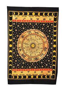 Tie-Dye Zodiac Art Wall Hanging Tapestry Yoga Mat Ethnic Indian Home Decor