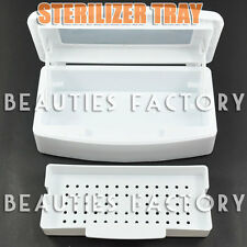 White Nail Art Tool Sterilizing Tray Box Beauty Manicure Pedicure Implement #117