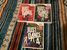Just Dance Lot Nintendo Wii 1 / 2 / 4 COMPLETE W/ Manuals