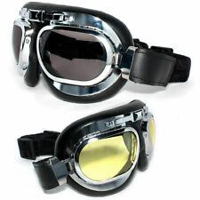 Retro Vintage Aviator Pilot Motorcycle Bike Cruiser Riding Scooter Biker Goggles