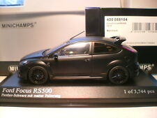 RARE MINICHAMPS 1/43 2010 FORD FOCUS RS 500 MATT BLACK OUTSTANDING DETAIL NLA