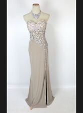 New Genuine NINA CANACCI 9045 Champagne Strapless Formal Evening Gown Dress 8