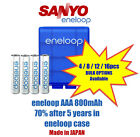 Sanyo eneloop AAA 800mAh NiMH rechargeable Battery w/ eneloop case MADE IN JAPAN