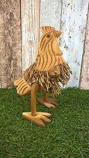 WOODEN GARDEN CHICKEN - Bamboo root Ornament - Handmade & Fair Trade - 25cm tall