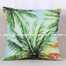 45cm Artificial Palm Plant Print Decorative Pillow Cushion Cover Home Sofa Bed