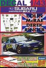DECAL 1/43 SUBARU IMPREZA 555 C.MCRAE R.SANREMO 1996 WINNER (01)