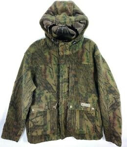COLUMBIA Gallatin Heavy-Duty Green Tree Camo Hooded Wool Blend Hunting Jacket L