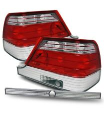 Fit 97-99 Mercedes Benz W140 S320 S420 S500 Red Clear Tail Lights Brake Lamps