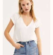 Free People V Easy Tee T-shirt - Brand New With Tags - White - Size Small