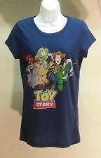 NWT Disney Pixar Toy Story Navy Blue Cotton Blend Graphic Tee T-Shirt Size: L