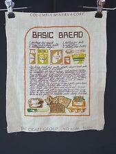 Columbia Minerva Basic Bread Recipe Stamped Cross Stitch Semi-completed Sampler