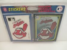 Cleveland Indians Chief Wahoo Vintage 1994 MLB Sealed Sticker Pack - Acid Free