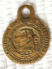 """California Centennial Celebration 1948-1950 1"""" Brass Medal / Cable Car & CA Seal"""