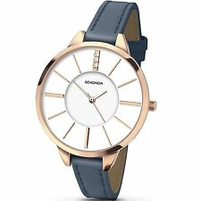 Sekonda Women's Watch White Dial Blue PU Strap 2246.27 RRP £39.99