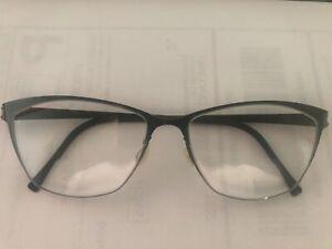 Lindberg 9554 P09 Strip Titanium Rx Eyeglasses FRAME  52[]15-135 Black Gun New