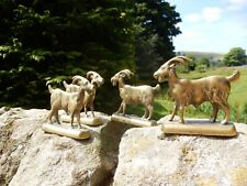 More details for ww1 era  brass goats  x4   have been used in display with goats cheeses etc f20