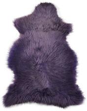 Suédois éco peau de mouton mauve 100 x 60 cm