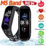 Smart Band Watch Bracelet Wristband Blood Pressure Heart Rate Tracker M4 M5