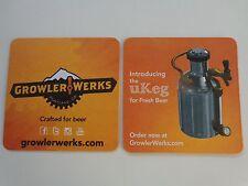 Beer Brewery Coaster ~*~ GROWLER WERKS ~*~ Introducing the uKeg for Fresh Brews