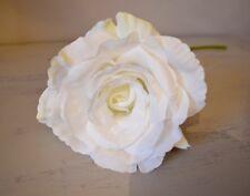 Individuale Ivory Artificiale Rosa Inglese,Realistico Bianco Finta Seta Fiore Di
