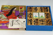 MINT Japan OGURA HYAKUNIN ISSHU Wood Paper Card Game Nintendo Free Ship 611k31