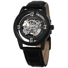 Stuhrling Original 877 06 Winchester Automatic Skeleton Black leather Mens Watch