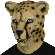 ADULT LEOPARD LATEX MASK CAT CHEETAH JUNGLE ZOO ANIMAL COSTUME RUBBER MASKS