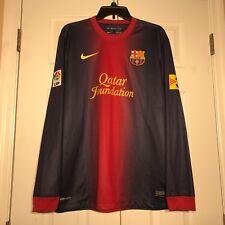 Nike 2012 - 2013 Barcelona FC long sleeve LS jersey Mens Large L Blank Messi