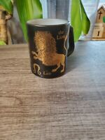 Vintage Federal Glass MCM Leo Lion Zodiac Coffee Cup Mug Mid Century Retro Mod