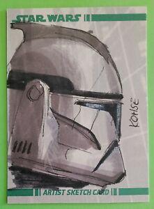 2008 topps CLONE TROOPER sketch card art LEE KOHSE star wars REPUBLIC SOLDIER