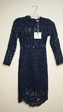 NWT Angel Biba Women's Size 6 Crocheted Lace Bodycon Navy Blue Cocktail Dress