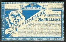 s580) Francia Carnet de Timbres 30 C rosa sectores Aequitas MH sello booklet