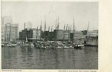 1906 ERA BALTIMORE HARBOR*MARYLAND*MD*ARCHER'S LAUNDRY SOUVENIR POSTCARD