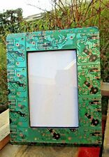 Indian Hand Carved Made Wooden Recycled Circuit Board Photo Frame  4 x 6