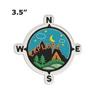 EXPLORE Compass Embroidered Patch Iron Sew-On Decorative Badge Souvenir Applique