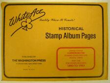WHITE ACE -  COMMEM POSTAL CARDS & ENVELOPES  PAGES - PT 1  1893-1983   #WA-CPC1
