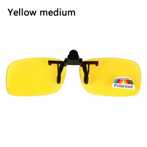 Clip-on Polarized Day Night Vision Flip-up Lens Driving Glasses Sunglasses YJC1