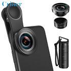 3 in 1 Cell Phone Lens Kit 180°Fisheye Lens+0.6X Wide Angle Lens+15X Macro Lens